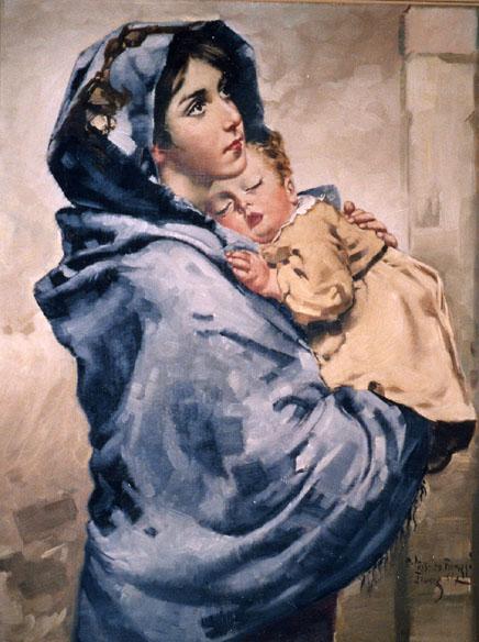 Virgen con el nino de ferruzi