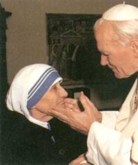 Beatos Madre teresa de Calcuta y Juan Pablo II